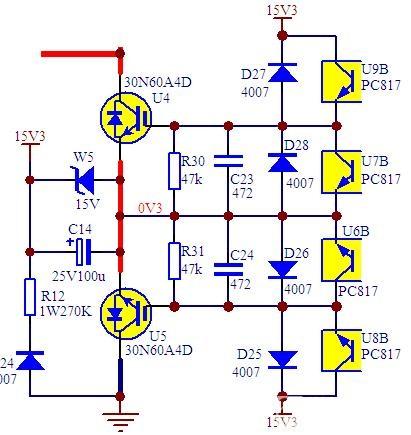电源书籍下载 历届会议资料  这里就是一个特例,直接由光耦驱动的工频