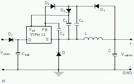 viper12a的buck电路电容问题