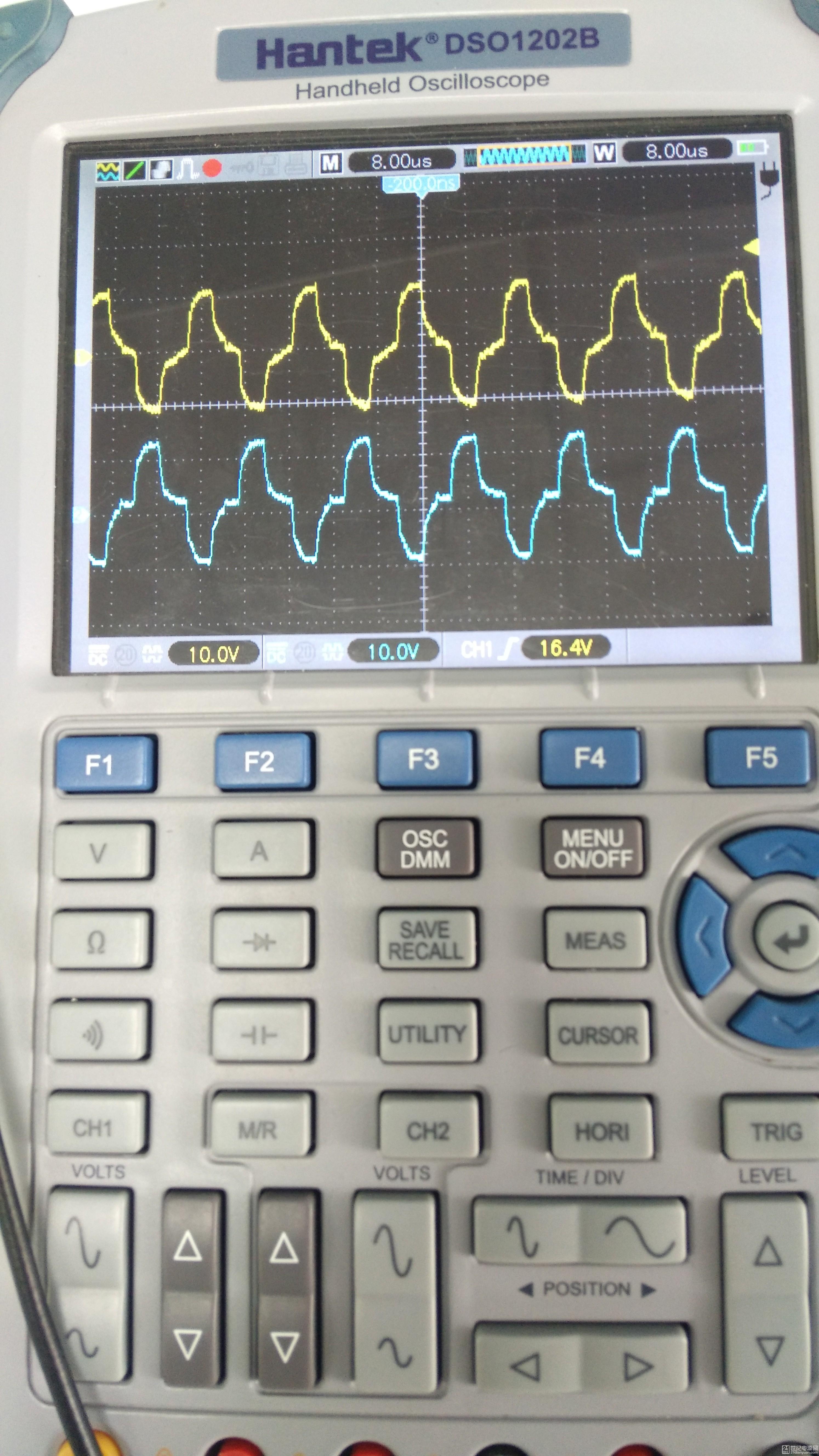变压器后端波形(占空比较小时)