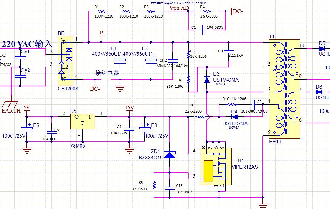 viper12a电路问题