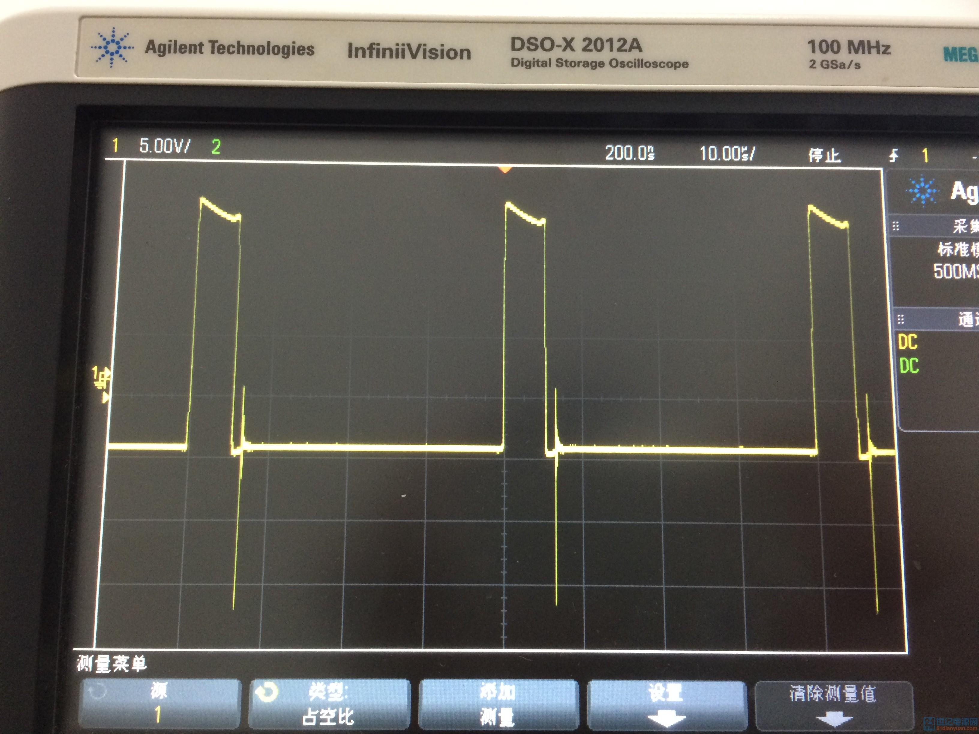 全桥逆变电路,在加大直流母线电压后,驱动波形出现震荡(而且很奇怪的