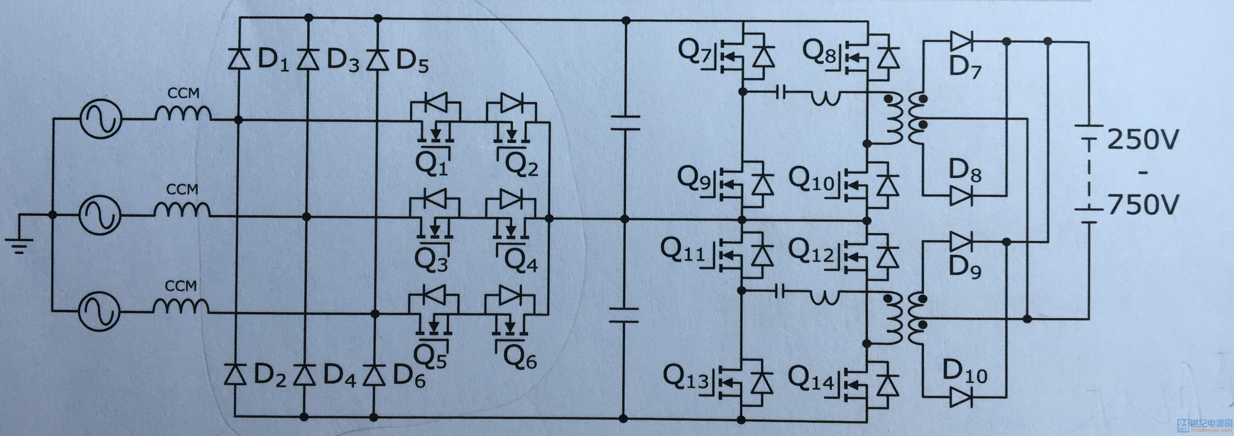 15kw充电桩典型拓扑结构