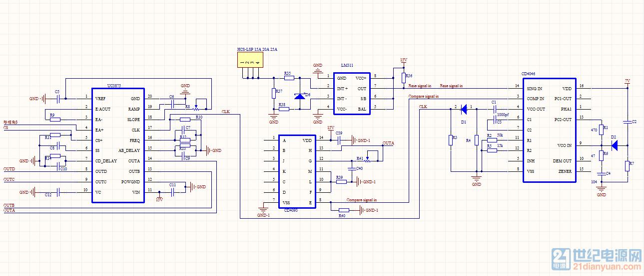 感应电源关于uc3875与cd4046连接问题,求大神指导.