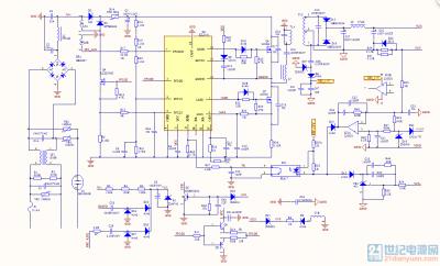 c组 200w led驱动电源带0-10v调光 拓补pfc lcc