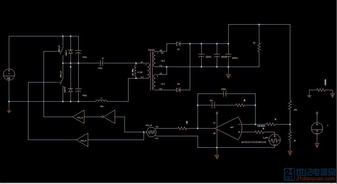 关于llc谐振电路的电流波形