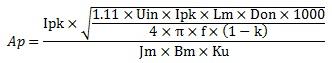 带电感参数的Ap公式.jpg