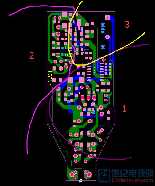 1是主功率回路 2是辅助供电的回路 3是模块周边