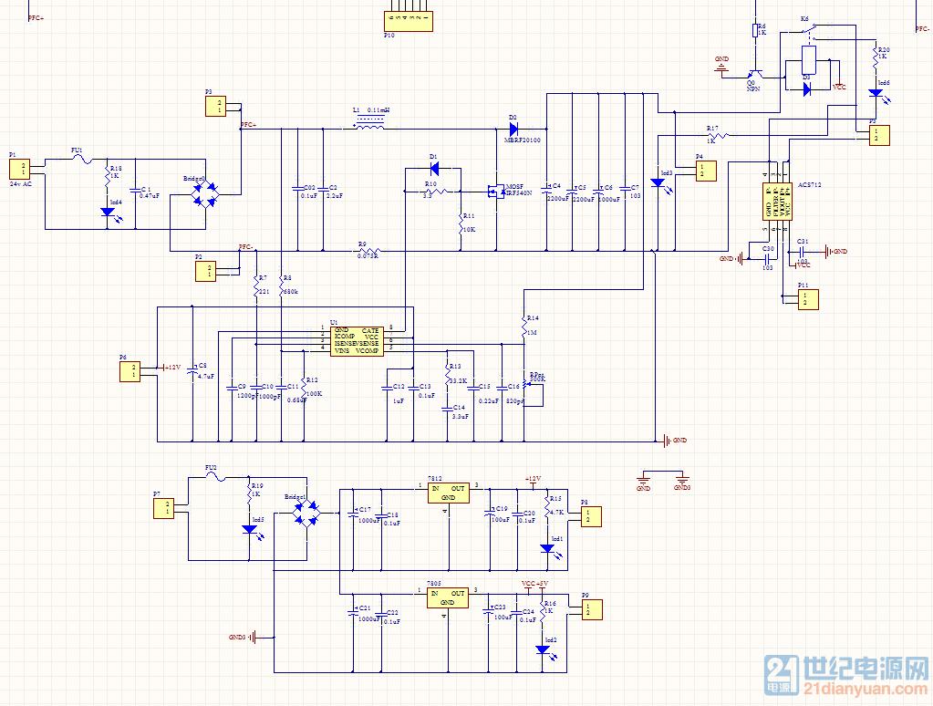 做课程设计用的,后面的acs712用来采集电路做过流保护使用.