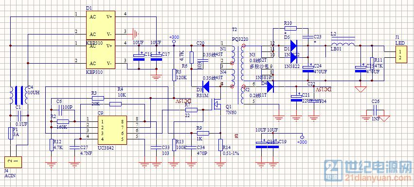 100w开关电源原理图