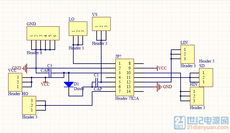ir2110驱动buck电路mos管问题