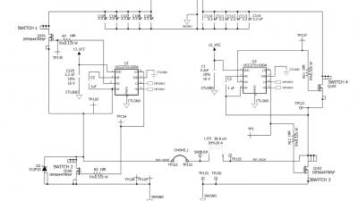 电路,用的2个ucc27211驱动mos,ucc27211是自举驱动,不明白在buck或者