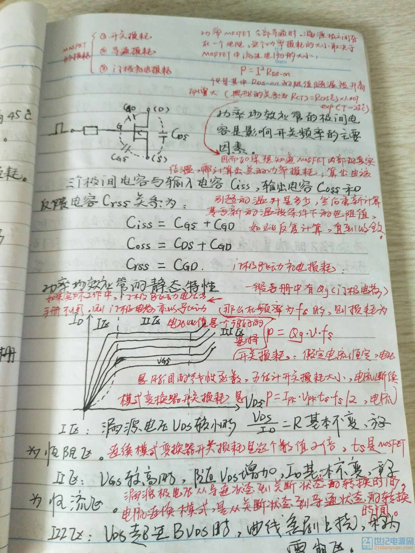 开关电源MOS特性笔记(附实例)