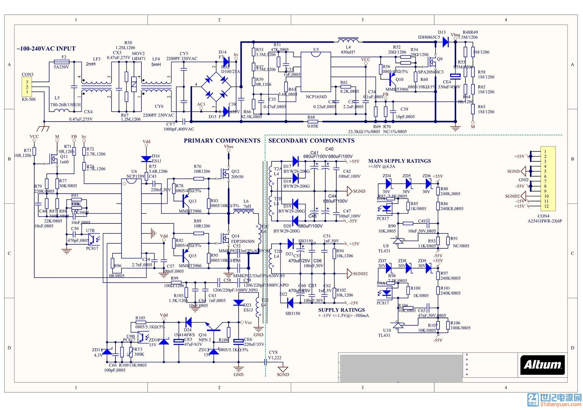 500W CCM-PFC+LLC,通过产品探究LLC