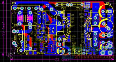 做个超小电源,学习QR原理(已上传 .sch文件+参数)