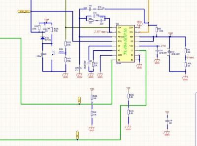 各位高工,用tl494做的半桥式的200w电源,上面两图为后级的电路,想